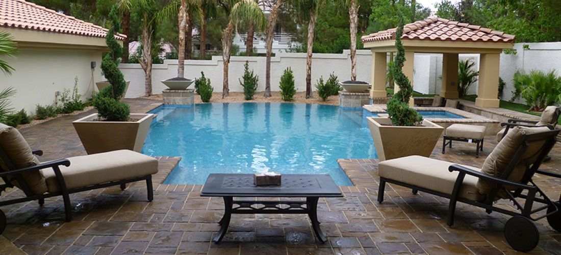 Las vegas and henderson landscape company courtney for Above ground pool decks las vegas